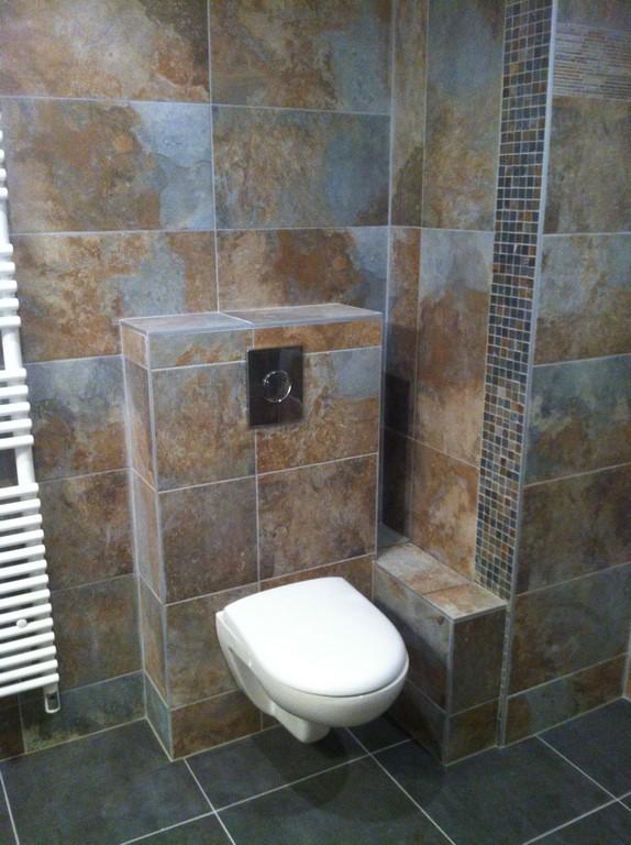 Salle d eau dans un appartement douche l italienne wc - Salle d eau a l italienne ...